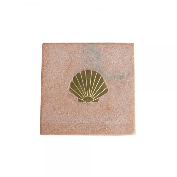 8124Pink_marble_coaster_with_brass_shell